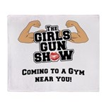 Girls Gun Show Throw Blanket
