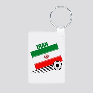 Iran Soccer Team Aluminum Photo Keychain