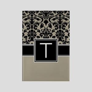 Monogram Letter T Gifts Rectangle Magnet