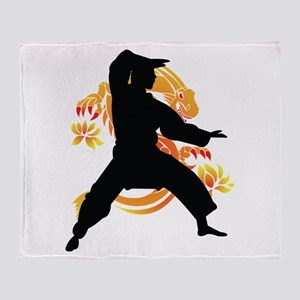 Dragon fighter Throw Blanket