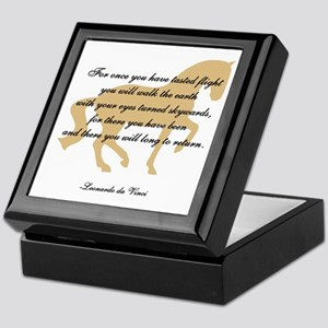 da Vinci flight saying - horse Keepsake Box