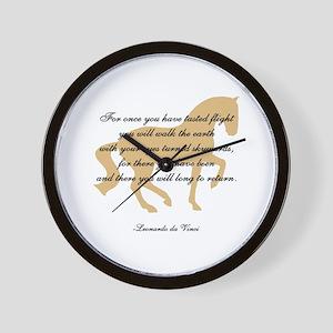 da Vinci flight saying - horse Wall Clock