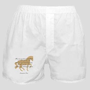 da Vinci flight saying - horse Boxer Shorts