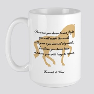 da Vinci flight saying - horse Large Mug