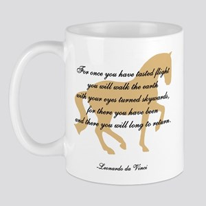 da Vinci flight saying - horse Mug