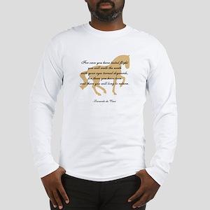 da Vinci flight saying - horse Long Sleeve T-Shirt