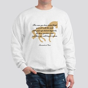da Vinci flight saying - horse Sweatshirt