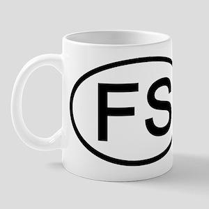 FS - Initial Oval Mug