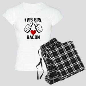This Girl Loves Bacon Women's Light Pajamas