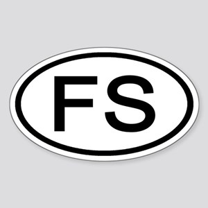 FS - Initial Oval Oval Sticker