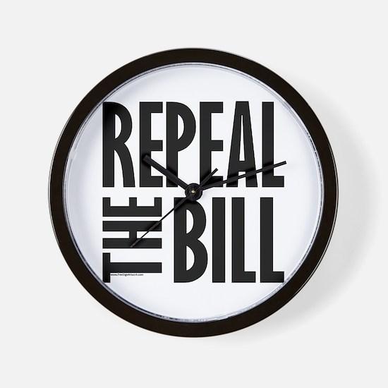 REPEAL the BILL Wall Clock