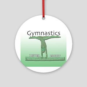 Level 8 Gymnast Ornament (Round)
