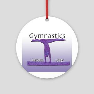 Level 10 Gymnast Ornament (Round)