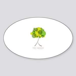 Tree Hugger Sticker (Oval)