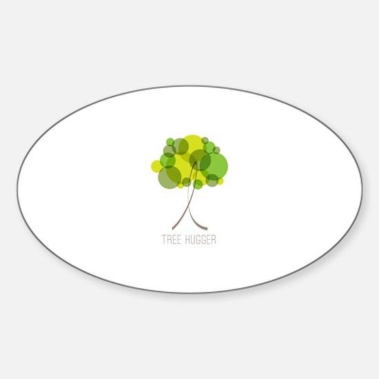 Tree Hugger Sticker (Oval)