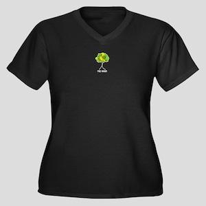 Tree Hugger Women's Plus Size V-Neck Dark T-Shirt