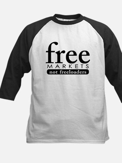 Free Markets - Not Freeloader Kids Baseball Jersey