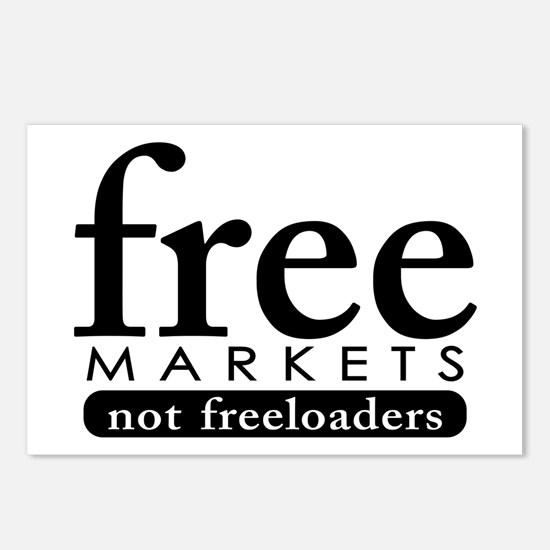 Free Markets - Not Freeloader Postcards (Package o
