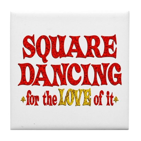 Square Dancing Love Tile Coaster