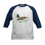 Retro Logger Kids Baseball Jersey