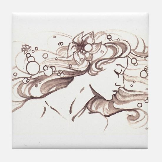 Ophelia Rising Tile Coaster
