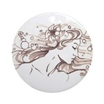 Ophelia Rising Ornament (Round)