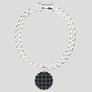 Tartan-MacKenzie htg grn Charm Bracelet, One Charm