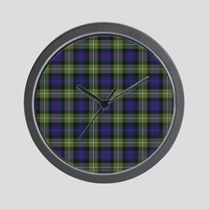 Tartan-MacKenzie htg grn Wall Clock