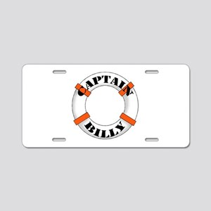 Captain Billy Aluminum License Plate