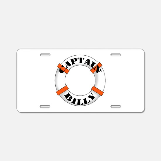 Captain Billy Aluminum License Plate