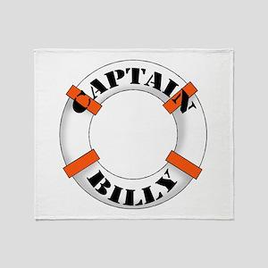Captain Billy Throw Blanket