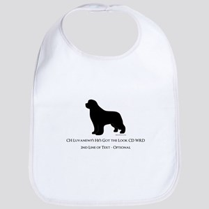 Newfoundland with Customizable Text Bib