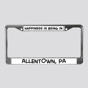 Happiness is Allentown License Plate Frame
