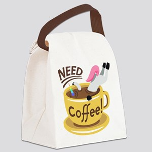 Need Coffee! Canvas Lunch Bag