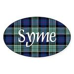 Tartan - Syme Sticker (Oval)