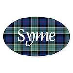 Tartan - Syme Sticker (Oval 50 pk)