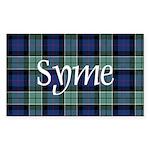 Tartan - Syme Sticker (Rectangle 50 pk)