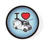 I Love Food Trucks! Wall Clock