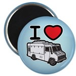 I Love Food Trucks! Magnet