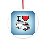 I Love Food Trucks! Ornament (Round)