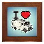 I Love Food Trucks! Framed Tile