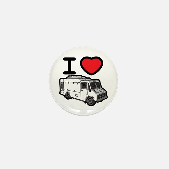 I Love Food Trucks! Mini Button