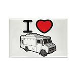 I Love Food Trucks! Rectangle Magnet (100 pack)