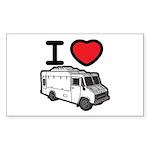 I Love Food Trucks! Sticker (Rectangle 10 pk)