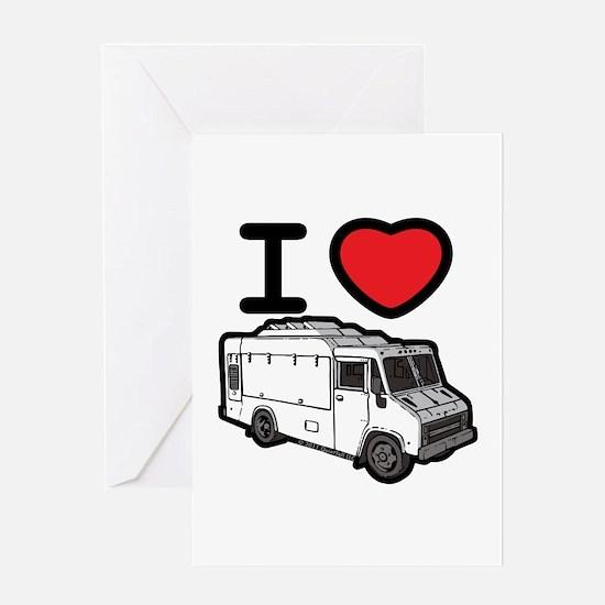 I Love Food Trucks! Greeting Card