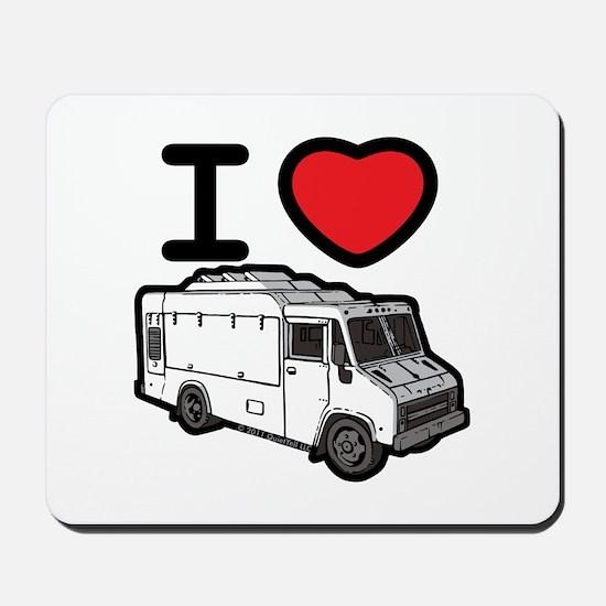 I Love Food Trucks! Mousepad