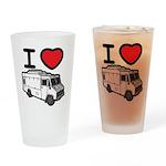 I Love Food Trucks! Drinking Glass