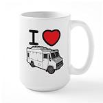 I Love Food Trucks! Large Mug