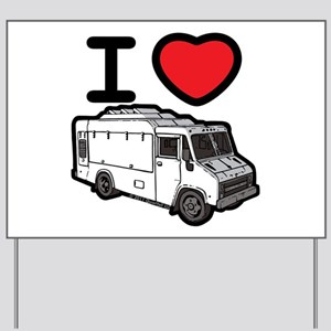 I Love Food Trucks! Yard Sign