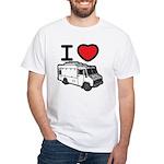 I Love Food Trucks! White T-Shirt